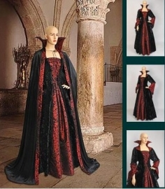 Gothic Dracula jurk met cape 406