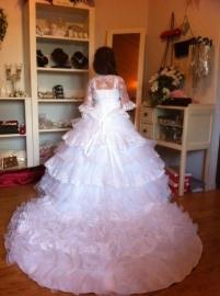 Eigen ontwerp Communie jurk MY28  PRIJS OP AANVRAAG.