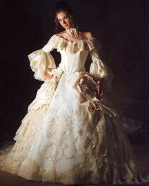 Marie Antoinette bruidsjurk AN078