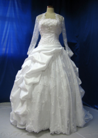 Bruidsjurk met bolero 58153