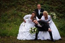 Huwelijk Tamara en Anneke met hun mannen