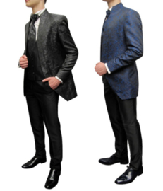 Schitterend 6 delig kostuum in zwart of blauw/zwart 0240