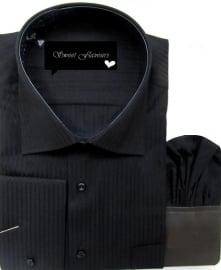 Heren hemd zwart09