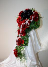Zijden bruidsboeket Gothic 0506