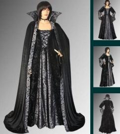 Gothic Dracula jurk met cape 407