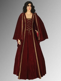 Gothic/Renaissance jurk met cape 16
