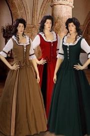 Vroegere stijl Country jurk 42