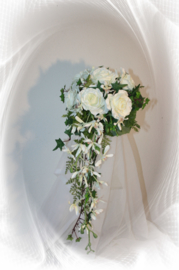 Zijden bruidsboeket 0505