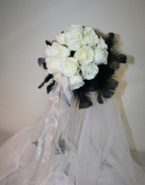 Zijden bruidsboeket Gothic 0703