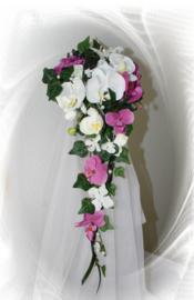 Zijden bruidsboeket 2204