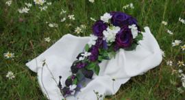 Zijden bruidsboeket Gothic 0406