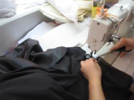 Het maken van de bruidsjurk