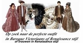 Schitterende Victoriaanse, Renaissance kleding voor hem en haar.