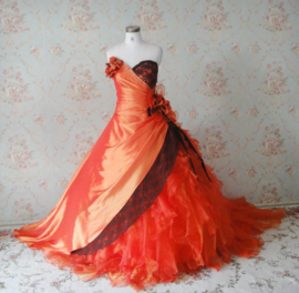 Halloween bruidsjurk C120