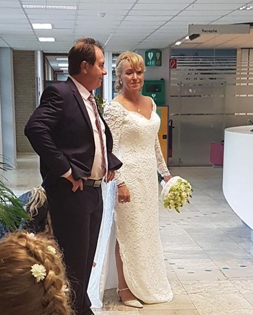 Huwelijk Brigitte en Jan.