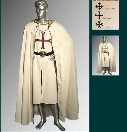 Kruisvaarder cape en tuniek CT18