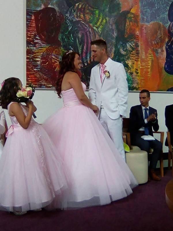 Huwelijk Samantha en Mischa