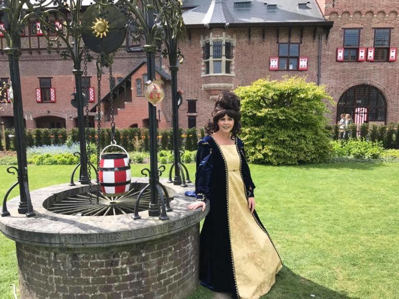 Patricia in haar prachtige Renaissance jurk