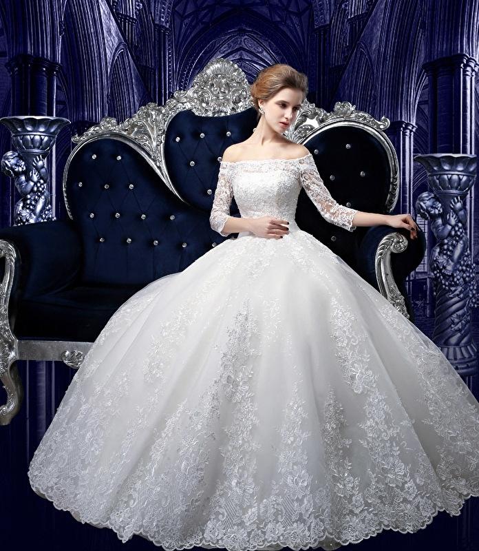 Bruidsjurk Met Lange Sleep Pg136 Nieuw Bruidsjurken Tot