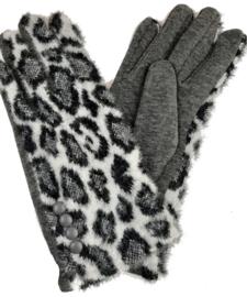 handschoenen met zwart-witte panterprint