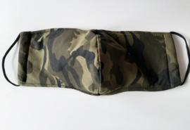 Katoenen mondkapje, voorgevormd, camouflageprint
