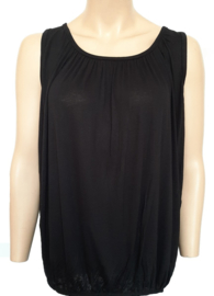 Mouwloze top / hemd zwart