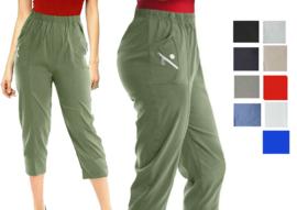Capri broek in 9 kleuren, maten 38 t/m 54