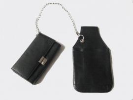 Koopmansbeurs, kelnerbeurs, horeca portemonnee met holster en ketting