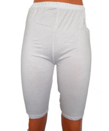 Wit wielrenbroekje voor onder een rok of jurk