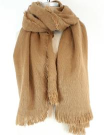 Zachte camelbruine sjaal