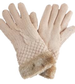 Gevoerde beige handschoenen