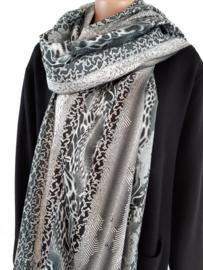 Sjaal met print in diverse kleur schakeringen