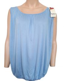 Mouwloze top / hemd blauw