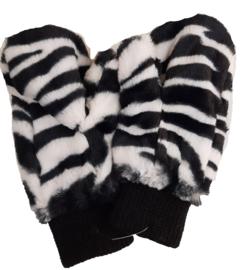 wanten met zebraprint