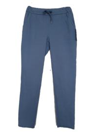 Jeansblauwe stretch broek met koord