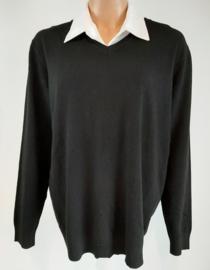 Zwarte trui met V-hals