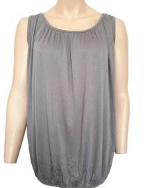 Mouwloze top / hemd taupe