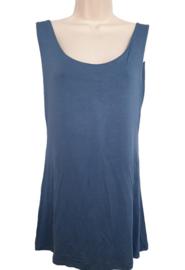 Gevoerd stretch hemd, kleur jeansblauw