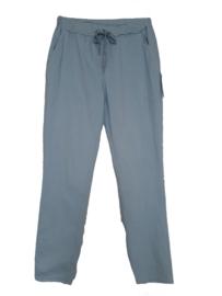 Lichtblauwe stretch broek met koord