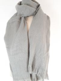 Zachte grijze sjaal