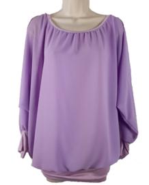 Lila blouse met elastische band