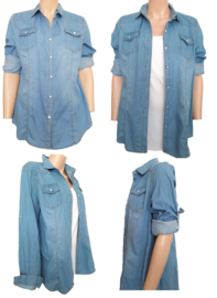 Jeans blouse die je ook als jasje kunt gebruiken