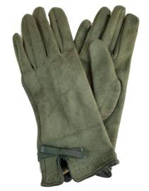 Olijfgroene handschoenen