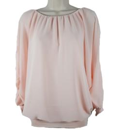 Zachtroze blouse met elastische band