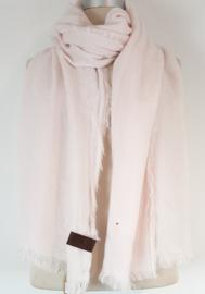 Effen sjaal, zacht roze