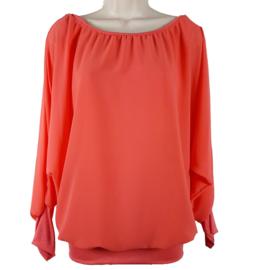 Koraal blouse met elastische band