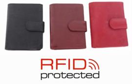 RFID Protected lederen pasjehouder voor 22 pasjes en papiergeld