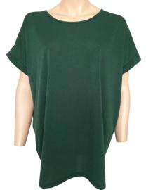 Ruim vallend T-shirt,donkergroen