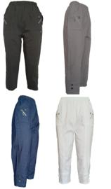 Capri broek in 7 kleuren, maten 38 t/m 54