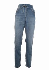 Karostar jogjeans met koord, lichte jeans